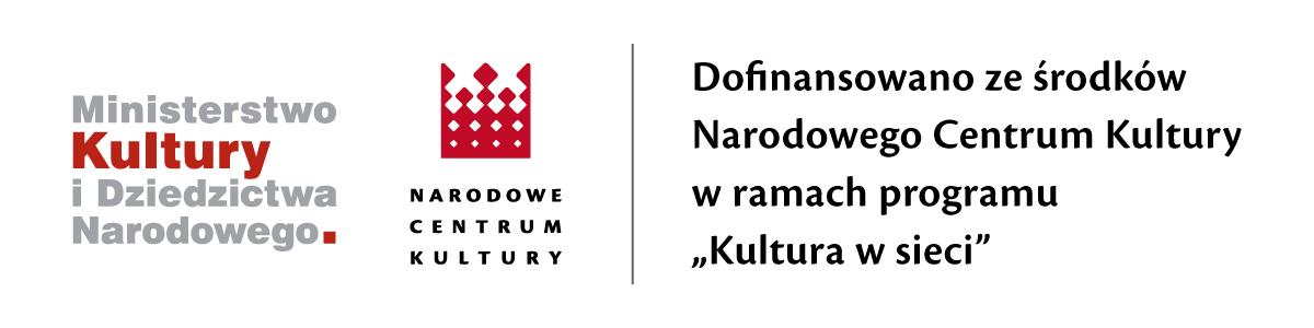 logotypy MKiDN oraz Narodowego Centrum Kultury