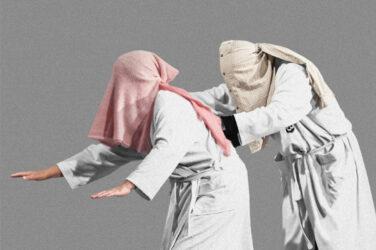 """Grafika promująca spektakl """"Seks dla opornych"""" - na zdjęciu grający w spektaklu Beata Zygarlicka i Konrad Pawicki, fot. Bartłomiej Sowa"""