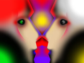 Grafika do spektaklu KONGRES FUTUROLOGICZNY, projekt: Tomasz Armada
