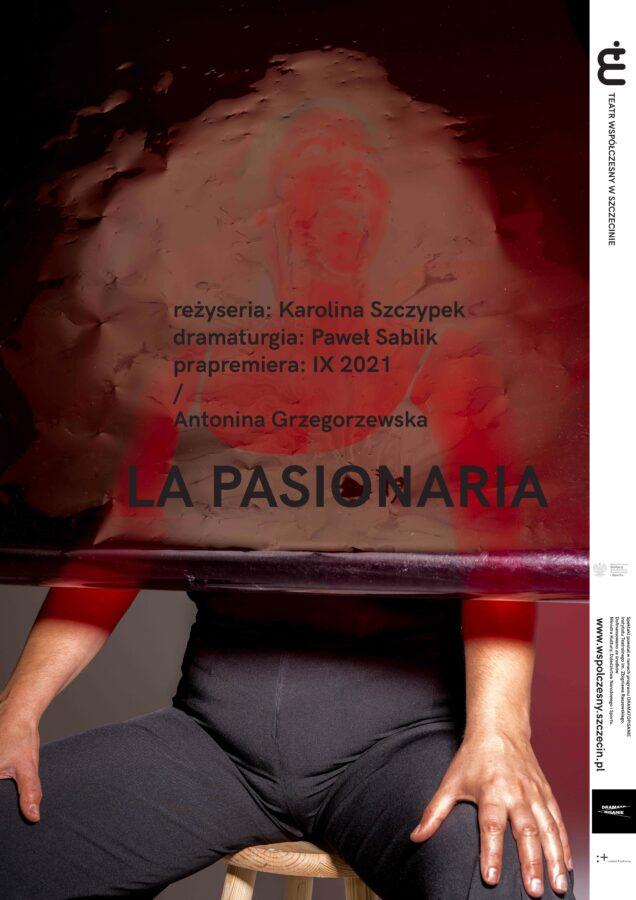 Plakat do spektaklu LA PASIONARIA, projekt: Karolina Babińska